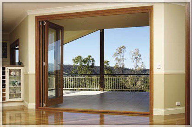 Folding Exterior Patio Doors 650 x 433